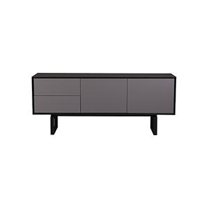 Burano Black and Gray Three Section Sideboard