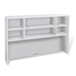 100 Collection White 63-Inch Hutch