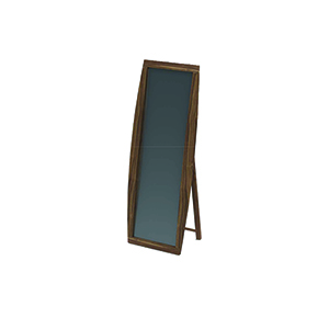 Mid Century Modern Walnut Standing Mirror