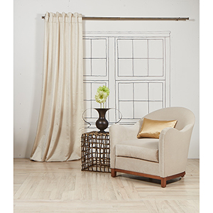 Imprint Pearl 108 x 50 In. Curtain Single Panel