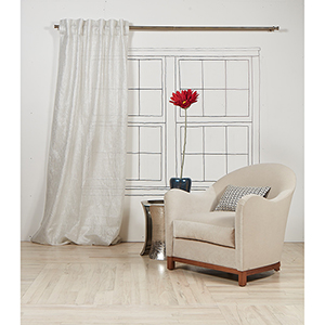 Silver 84 x 50 In. Curtain Single Panel
