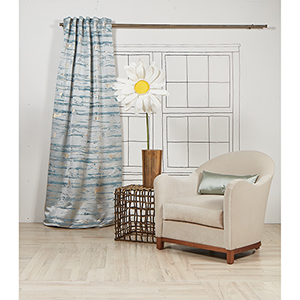 Serenity Blue 96 x 50 In. Curtain Single Panel