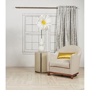 Terrazzo Silver 108 x 50 In. Curtain Single Panel