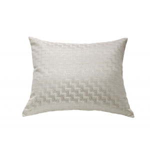 Glam Ivory Throw Pillow