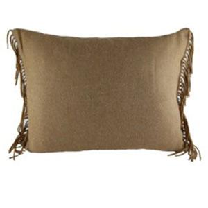 Fringe Camel Throw Pillow