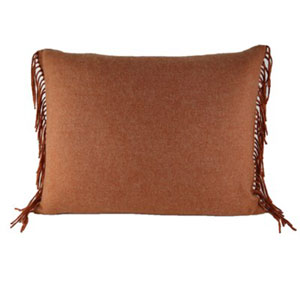 Fringe Paprika Throw Pillow