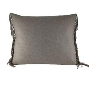 Fringe Taupe Throw Pillow