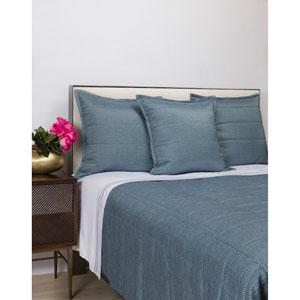 Texture Blue Four-Piece King Coverlet Set