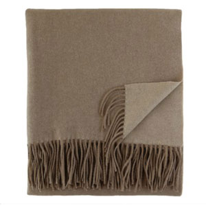 Fringe Taupe Throw