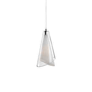 Chrome 10-Inch One-Light Pendant with Clear Glass
