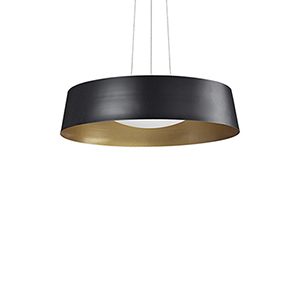 Black 17-Inch One Light LED Pendant