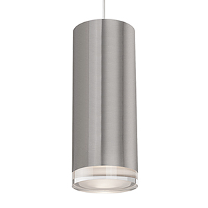 Brushed Nickel 10-Inch One-Light LED Pendant