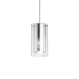Brushed Nickel Four-Inch One-Light Pendant with Mirror Glass