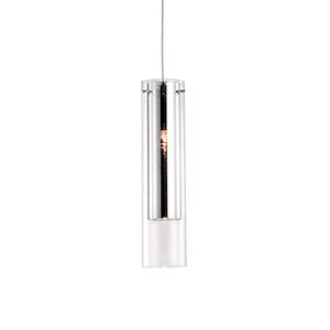 Chrome Four-Inch One-Light Pendant with Mirror and Clear Glass