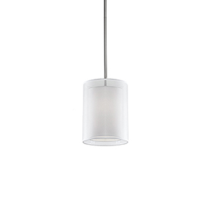 Brushed Nickel Nine-Inch One-Light Pendant