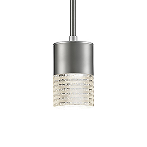 Brushed Nickel Three-Inch One-Light LED Pendant