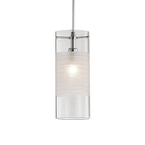 Brushed Nickel Three-Inch One-Light Pendant