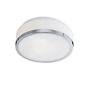 Chrome 12-Inch Two-Light Flush Mount