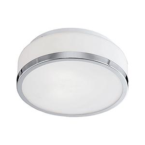 Chrome Three-Light Flush Mount