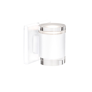 White Four-Inch One Light LED Wall Sconce