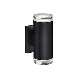 Black Eight-Inch One-Light LED Wall Sconce