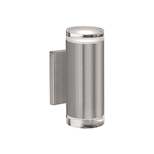 Brushed Nickel Eight-Inch One Light LED Wall Sconce