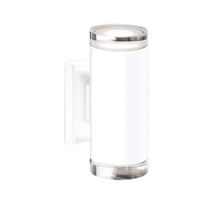 White Eight-Inch One-Light LED Wall Sconce