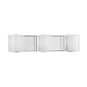 Chrome 19-Inch Three-Light Bath Vanity
