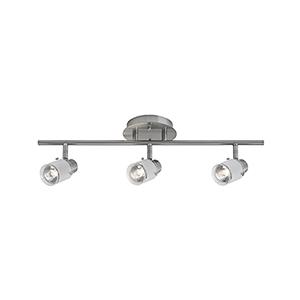 Brushed Nickel 22-Inch Three-Light Track Light
