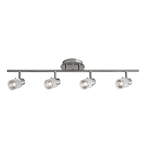 Brushed Nickel 29-Inch Four-Light Track Light
