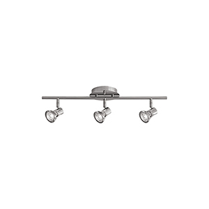 Brushed Nickel 22-Inch Three-Light Track Light with Clear Glass