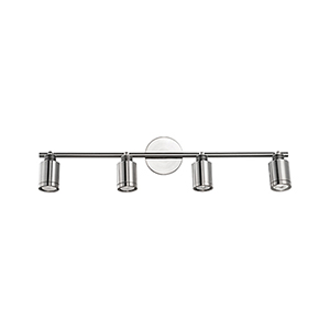 Brushed Nickel 29-Inch Four-Light Track Light with Frosted Glass