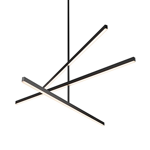 Vega Black 56-Inch LED Chandelier