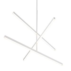 Vega White 56-Inch LED Chandelier