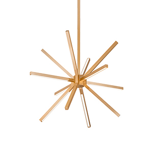 Sirius Minor Gold LED Chandelier