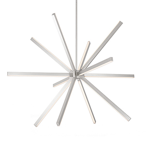 Sirius Brushed Nickel 54-Inch LED Chandelier