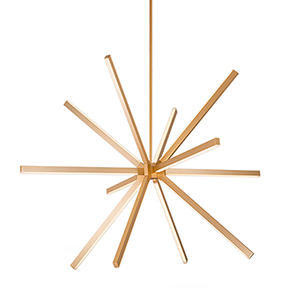 Sirius Gold 54-Inch LED Chandelier