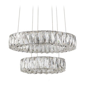 Chrome 17-Inch LED Chandelier