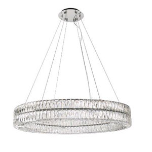 Solaris Chrome 41-Inch LED Chandelier