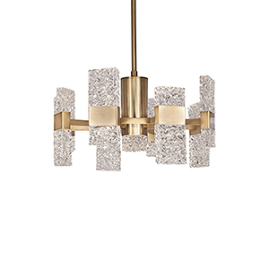Oslo Brushed Gold 22-Inch LED Chandelier
