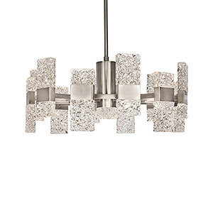Oslo Platinum 28-Inch LED Chandelier