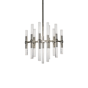 Turin Polished Nickel 20-Inch LED Chandelier
