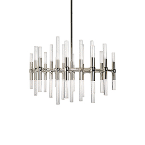Turin Polished Nickel 27-Inch LED Chandelier