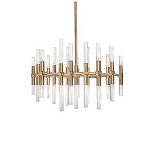 Turin Vintage Brass 27-Inch LED Chandelier