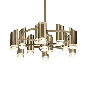 Berlin Vintage Brass LED Chandelier