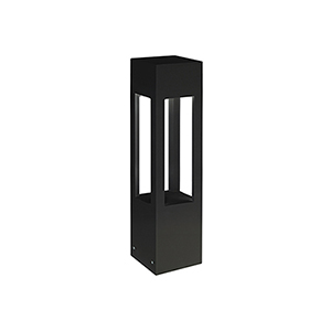 Black One-Light Bollard