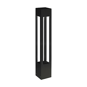 Black 36-Inch One-Light Tall Bollard