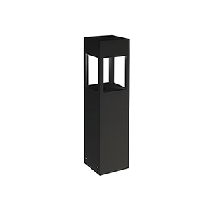 Black 24-Inch One-Light Bollard