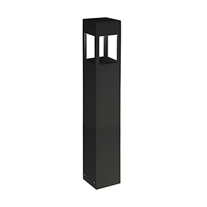 Black 36-Inch One-Light Bollard