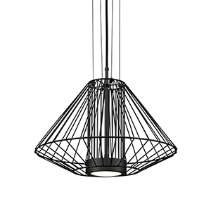Arctic Black 15-Inch One-Light Pendant
